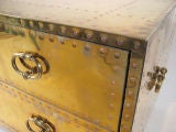 brass chest of drawers by Sarreid thumbnail 4