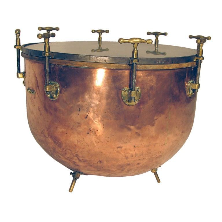 Copper Kettle Drum Coffee Table