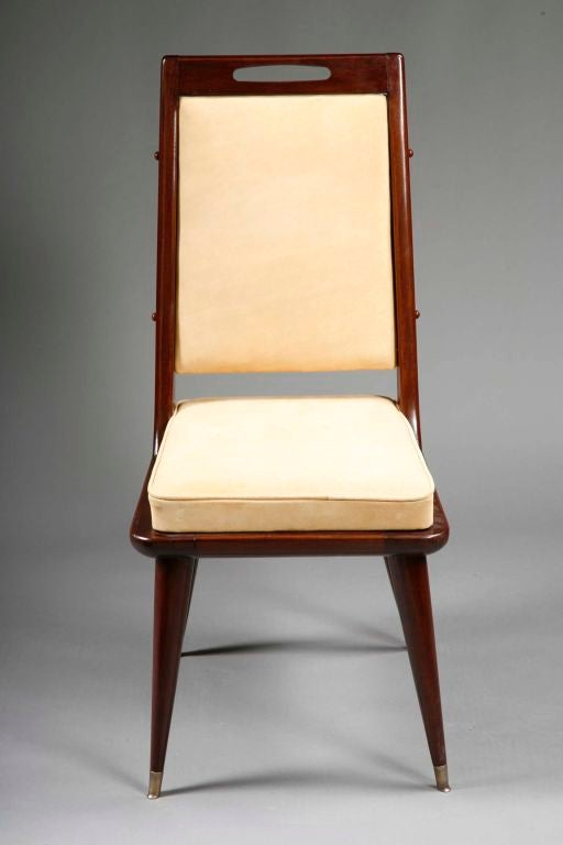 set of twelve mid century modern dining chairs in rosewood image 2