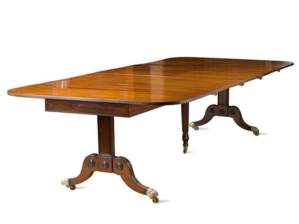 Regency Trestle End Dining Table At 1stdibs