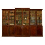 Large New York Mahogany Breakfront Bookcase
