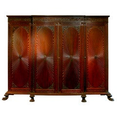 Anglo-Indian Carved Regency Form Cabinet