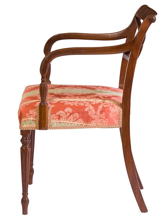 Set of Eight English Neoclassical Dining Chairs 3