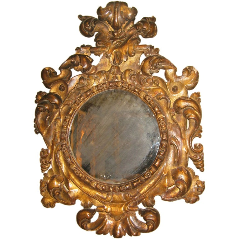 A good mid 18th century spanish baroque mirror at 1stdibs for Baroque resin mirror