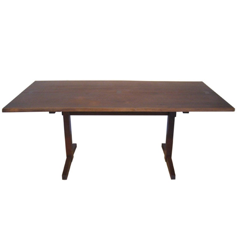 terrific six foot trestle based dining table by george