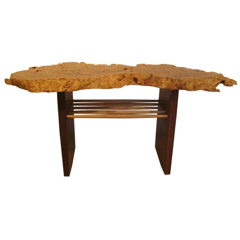 """Burled """"Portsmouth"""" Table by Mira Nakashima"""