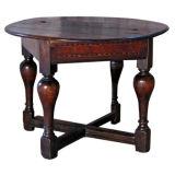 Dutch Baroque round flip-top table