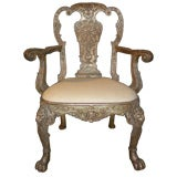 English George I style Silvered Armchair, after a design by William Ke