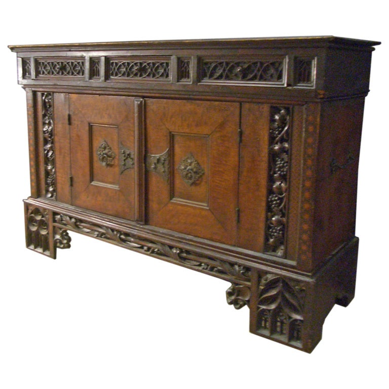 Early 16th Century German Gothic Cabinet Sideboard For