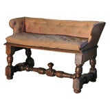 Italian 18th century Baroque Walnut Bench or Settee