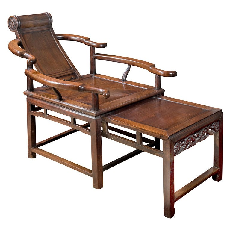Chinese reclining armchair at 1stdibs for Chinese art furniture