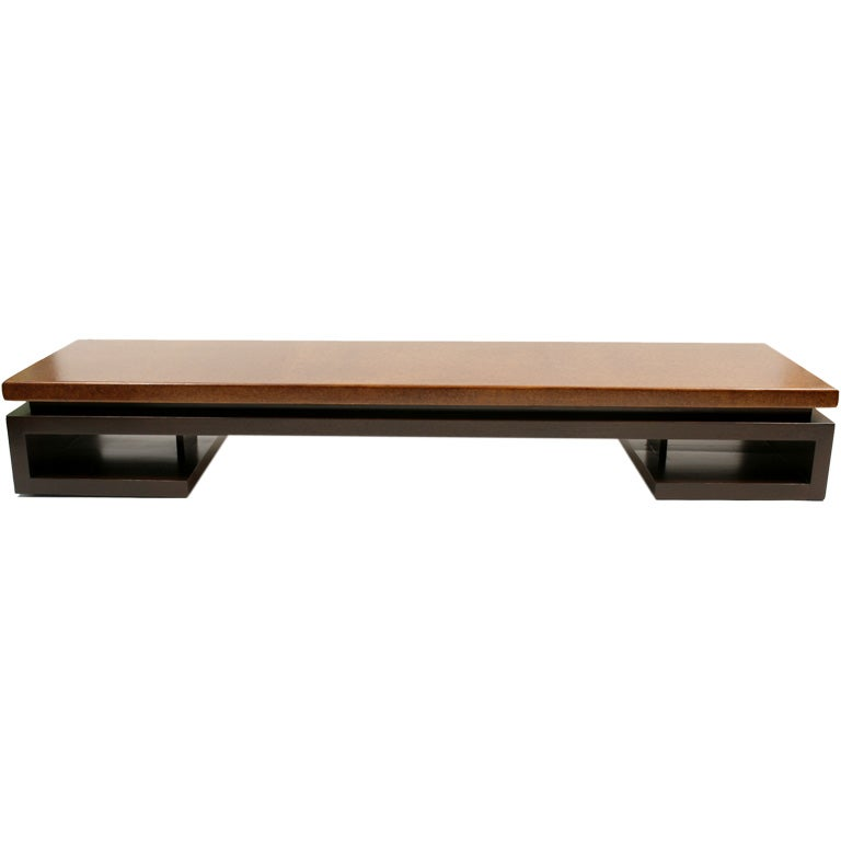 Sleek paul frankl for johnson cork cocktail table at 1stdibs Sleek coffee table
