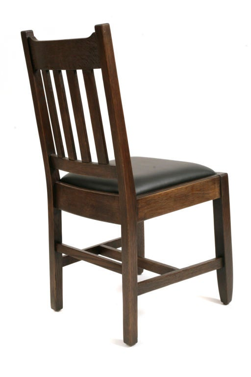 mission oak dining chairs at 1stdibs