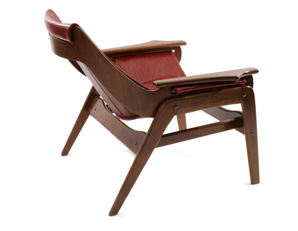 Jerry Johnson Leather Sling Chairs At 1stdibs
