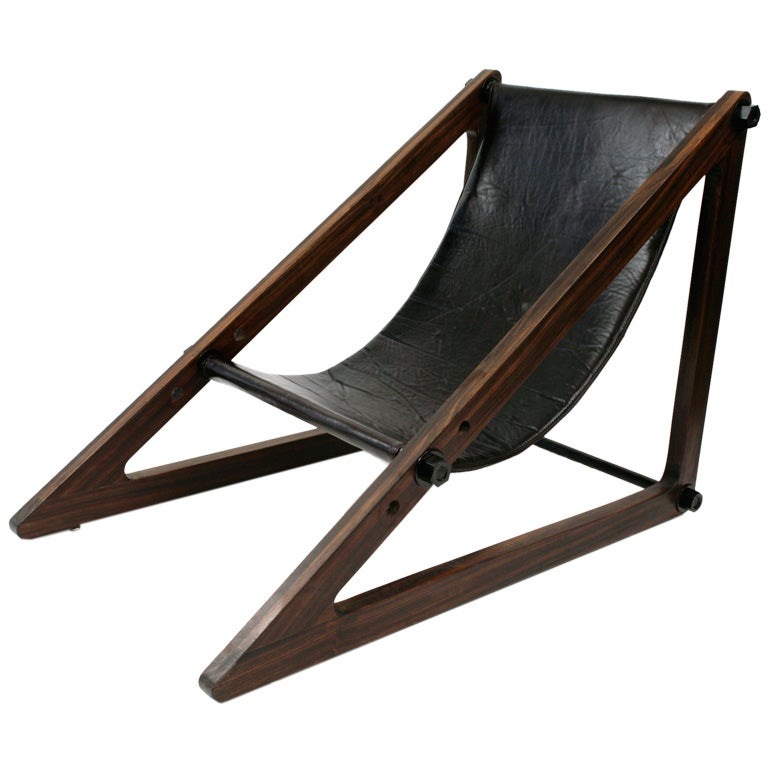 Phenomenal Rosewood Brazilian Sling Chair At 1stdibs