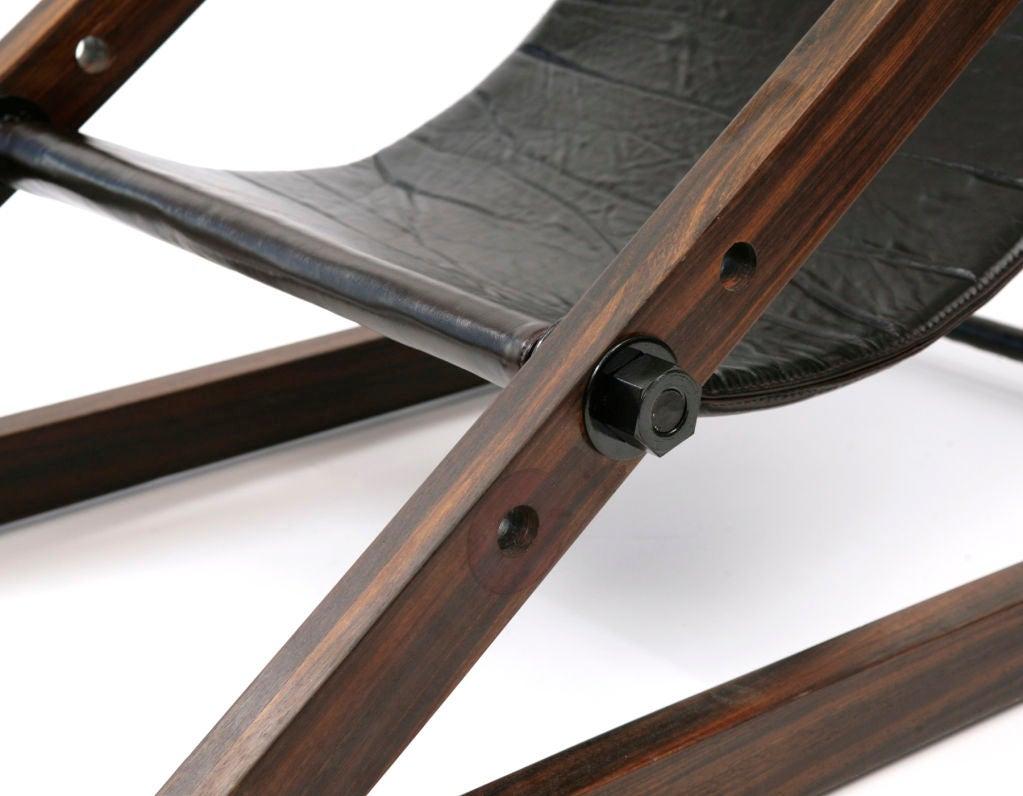 Phenomenal Rosewood Brazilian Sling Chair At 1stdibs