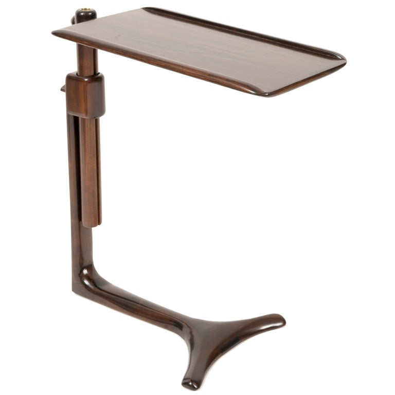 Adjustable Side Table For Recliner: Prototype Allen Ditson Adjustable Side Table At 1stdibs
