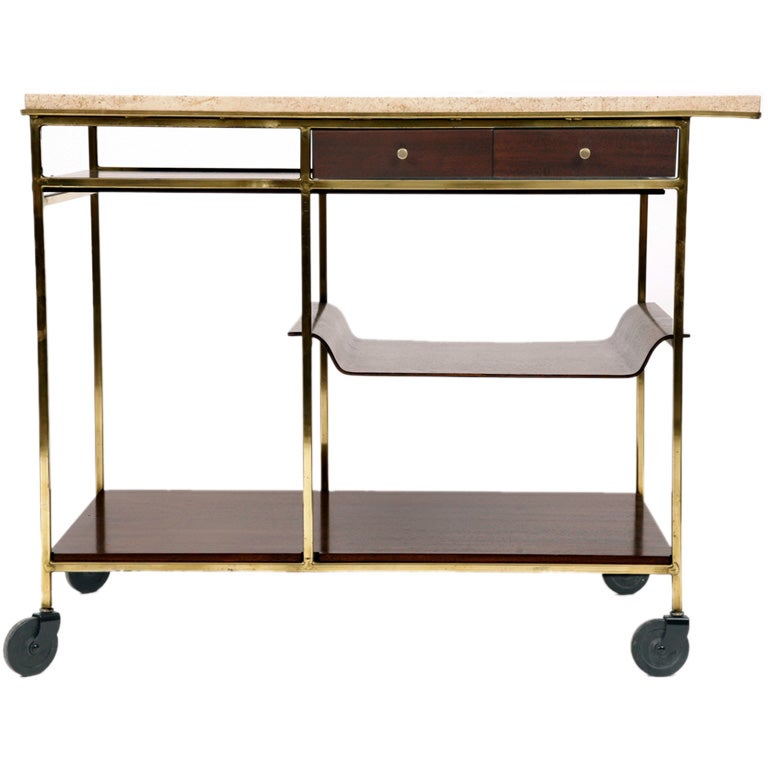 Paul Mccobb for Calvin Bar Cart For Sale