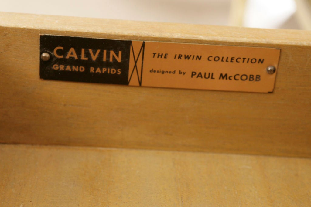 Mid-20th Century Paul Mccobb for Calvin Bar Cart For Sale