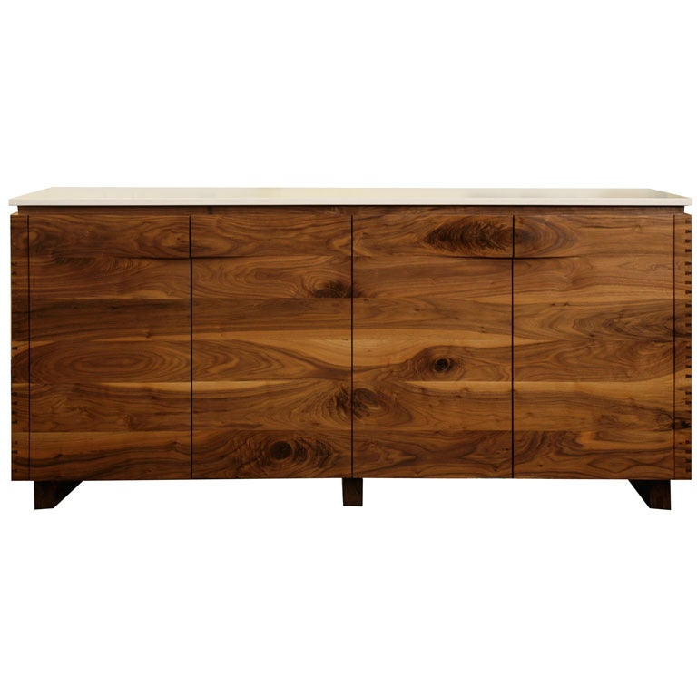 Solid Walnut Buffet ~ Custom germani and smith solid walnut sideboard at stdibs