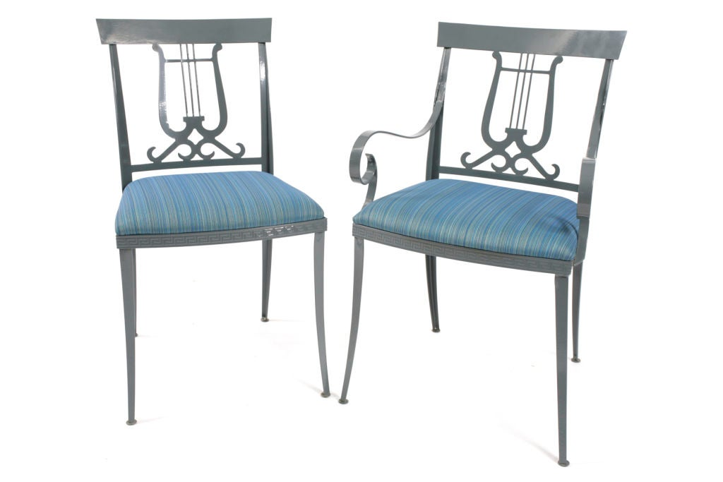 Ornate Iron Patio Set At 1stdibs