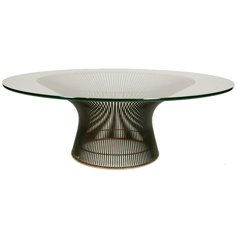 Warren platner knoll bronze coffee table at 1stdibs for Warren platner coffee table