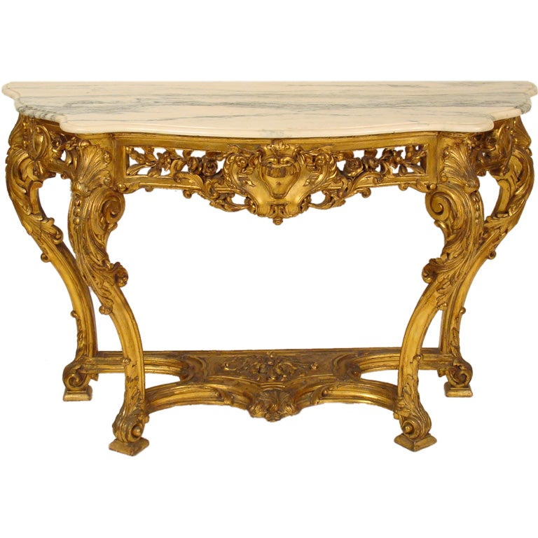 Louis Xv Style Gilt Wood Console Table At 1stdibs
