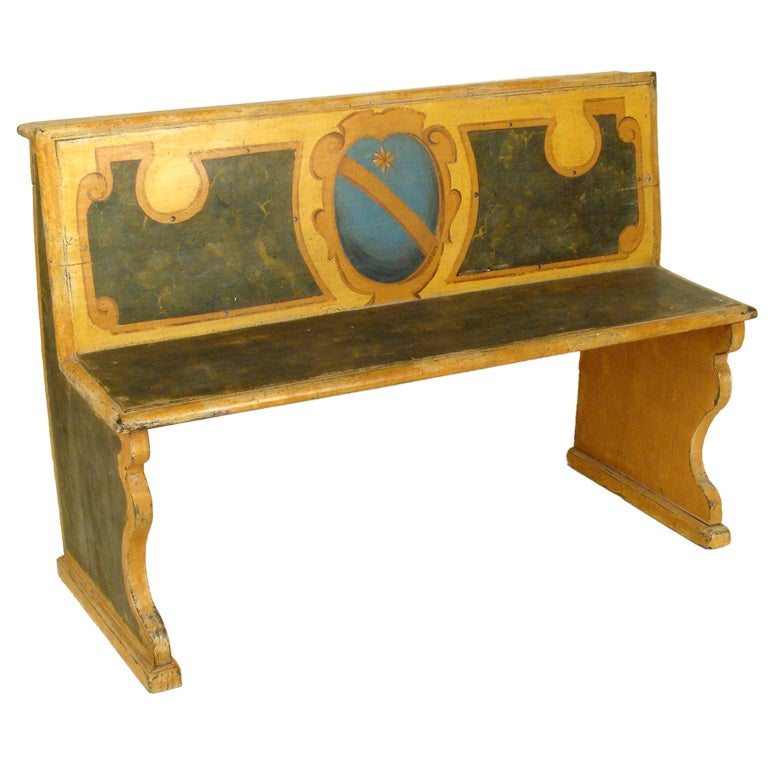 italian painted hall bench at 1stdibs