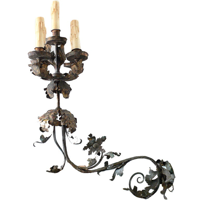 Massive Pair of French Sconces