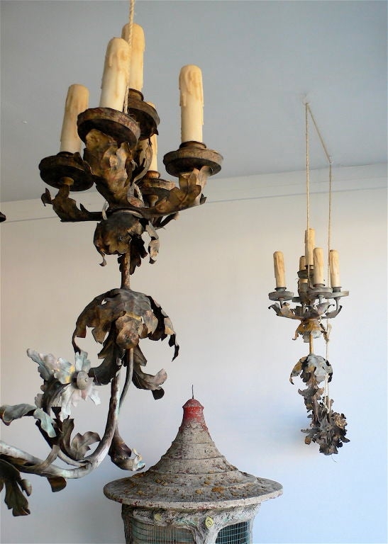 Iron Massive Pair of French Sconces