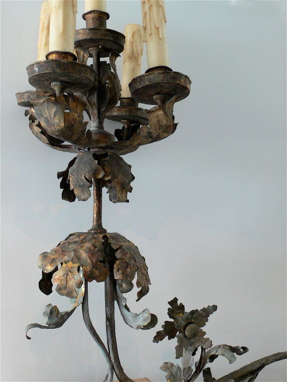 Pair of large-scale gilded sconces.