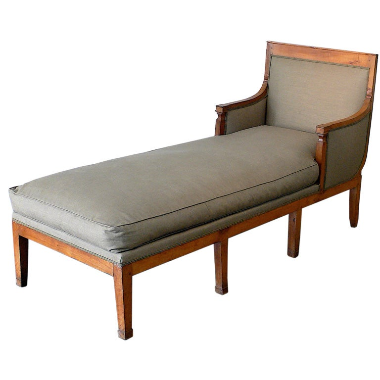 French empire chaise lounge at 1stdibs for Antique french chaise lounge