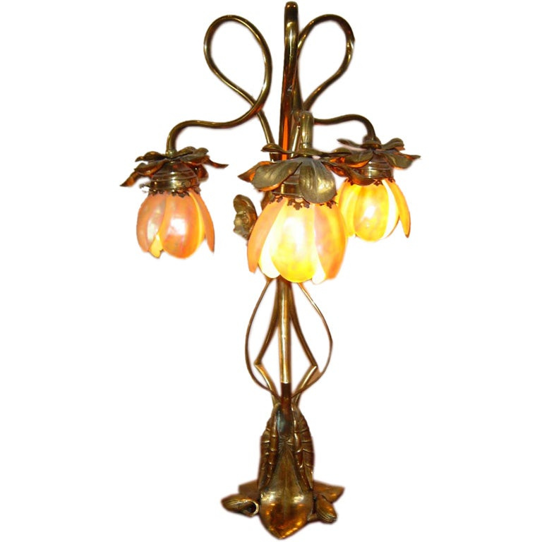 French Art Nouveau Lamp at 1stdibs