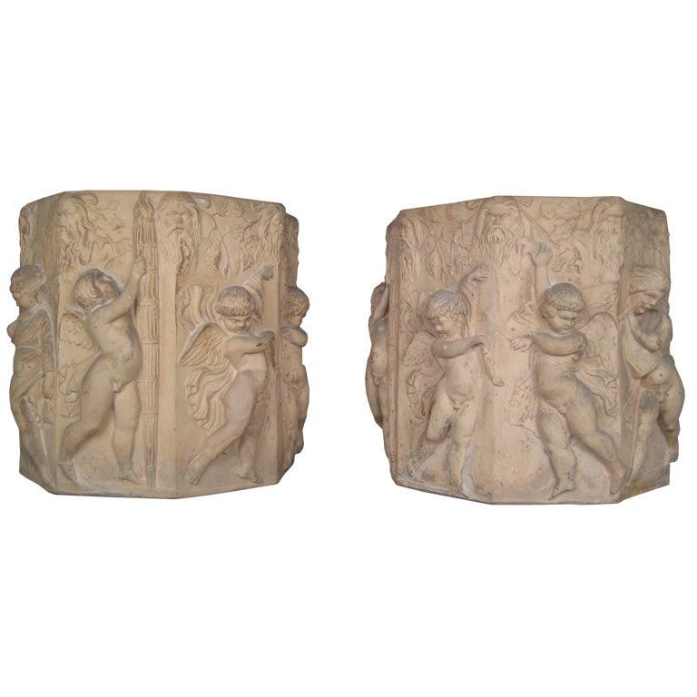 Pair of Sienna Pots
