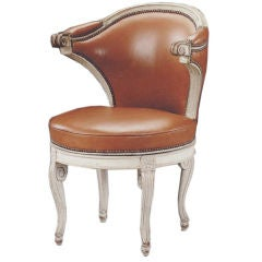 Painted desk chair by  Claude II Sené (Stamped: C*SENE)