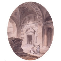 Ruins of a Vaulted Classical Interior by Pierre-Antoine de Machy