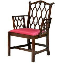 A Fine Early George III Mahogany Open Armchair
