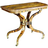 A Regency Calamander Console Games Table