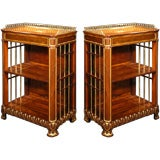 A Pair Of George IV Parcel Gilt Rosewood Side Cabinets