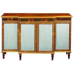 A Regency Rosewood Side Cabinet With Satinwood Banding