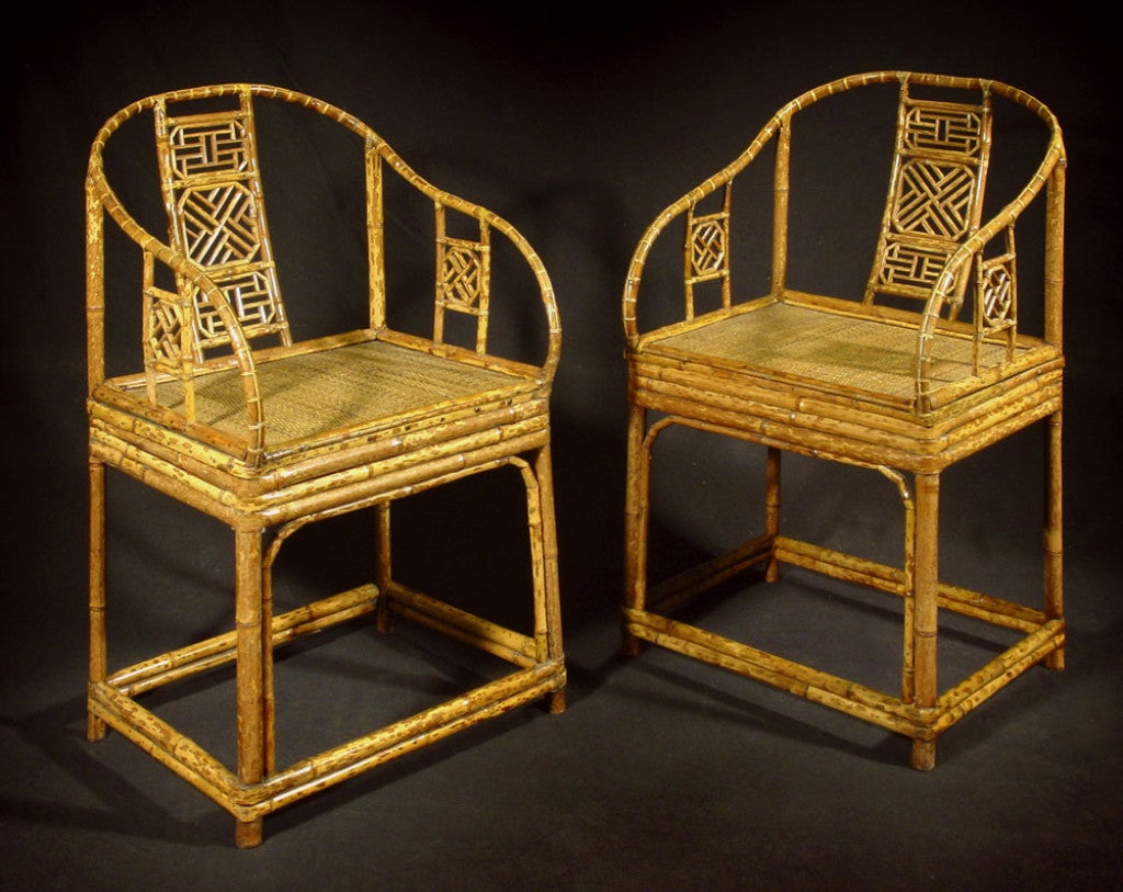 "A PAIR OF RARE CHINESE EXPORT ""BRIGHTON PAVILION"" ARMCHAIRS"