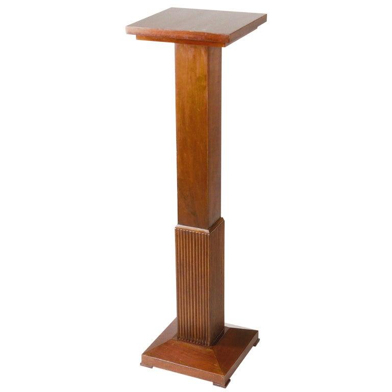 Art Deco Walnut Pedestal.