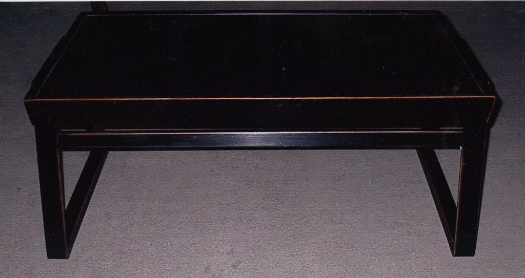 Japanese black lacquer table for sale at 1stdibs for Asian furniture tampa