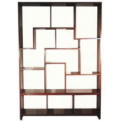 European Modern Cherry Wood Etagere