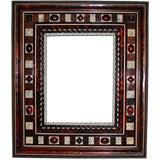 Italian tortoiseshell and ivory frame with mirror