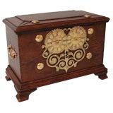 Rare English Oak Strong Box