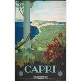 Origianl 1920's Italian travel poster for Capri