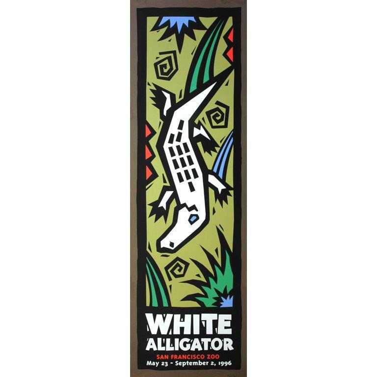 """""""White Alligator"""" - 1990s San Francisco Zoo poster"""