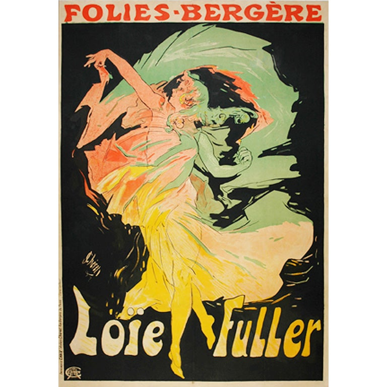 Original French Poster for Loie Fuller by Cheret For Sale