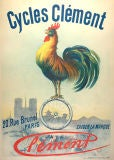 Turn of the century French bicycle poster for Clement Cycles